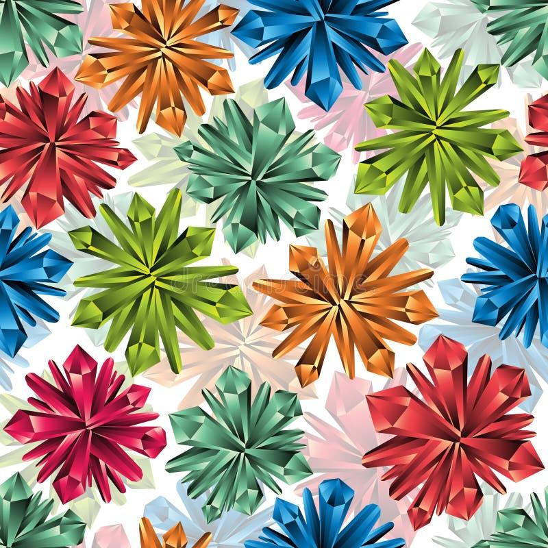 Crystals seamless pattern. vector illustration
