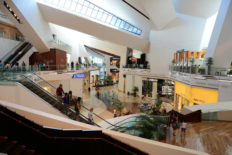 Crystals Shops Las Vegas. Pic of Crystals Shopping Center at City Center Las Vegas royalty free stock image