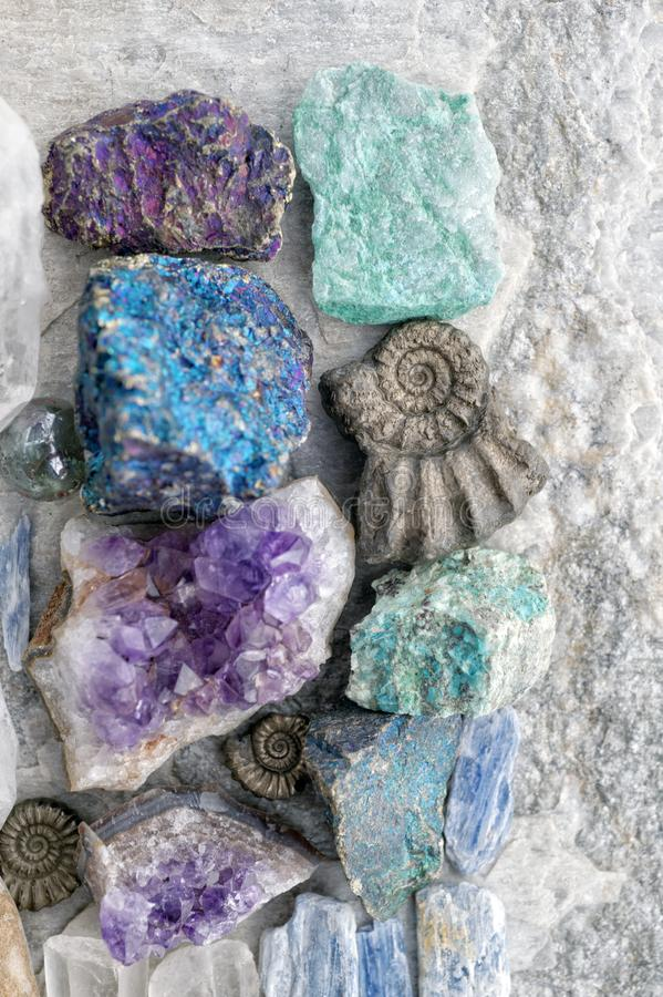 Crystal And Stone Healing Rocks royalty free stock photography