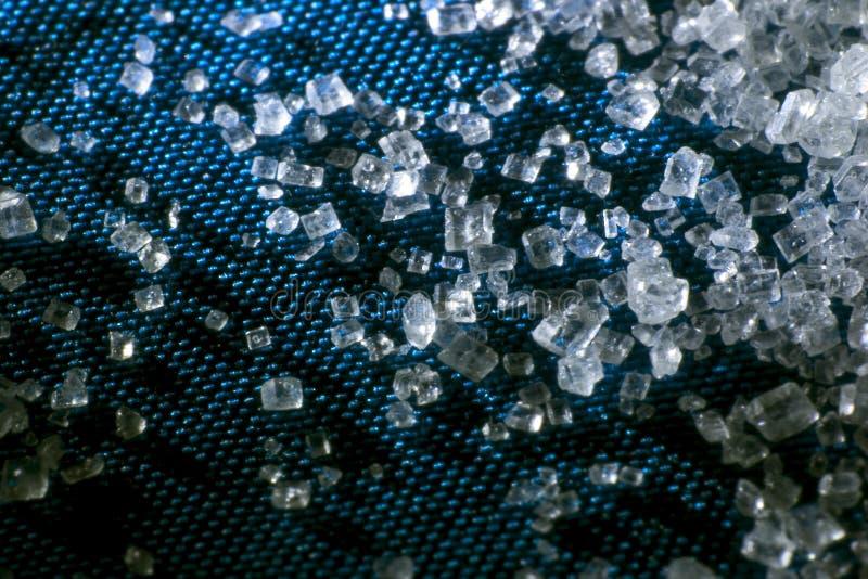 Crystals of sugar stock image
