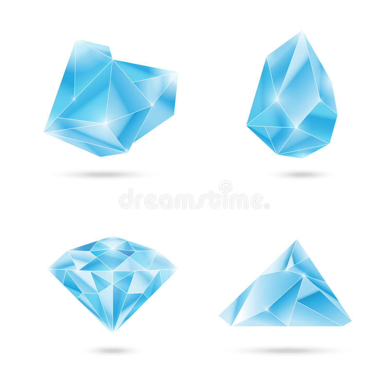Crystals stock illustration