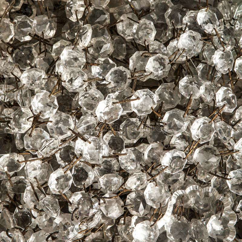 Crystals of vintage chandeliers royalty free stock photos