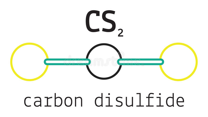 Carbon Disulfide Cs2 Stock Vector Illustration Of Formula 91010996