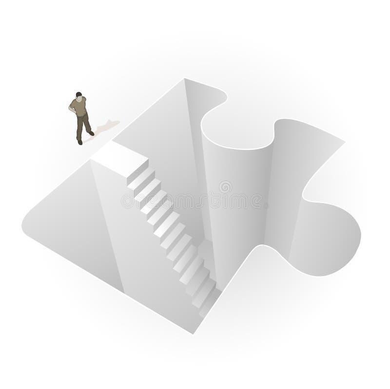 Cs_into_puzzle royalty-vrije illustratie