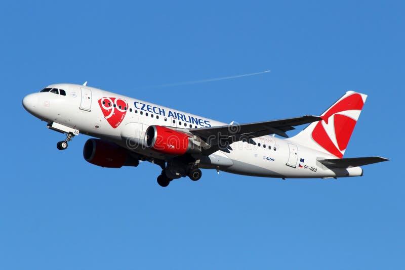 CSA -捷克航空公司 免版税库存照片