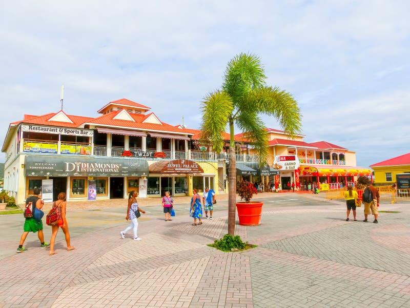 CSaint Kitts, federation av helgonet Kitts och Nevis - Maj 13, 2016: ruiseport Basseterre helgon Kitts och Nevis arkivbild