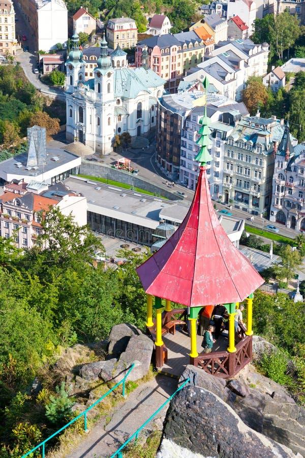 Csar Peter o grande ponto de vista - centro histórico da cidade Kar dos termas fotos de stock