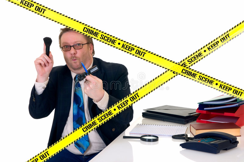 CSI crime scene investigator stock images