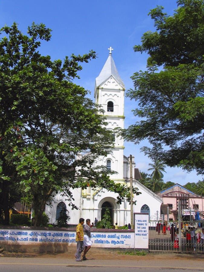 CSI domkyrkakyrka - Kozhikode, Calicut, Kerala arkivbilder