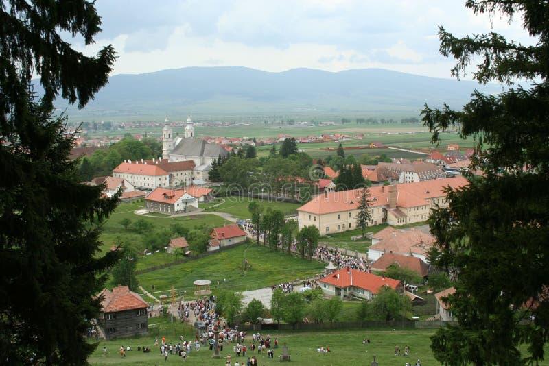 Csiksomlyo in Transylvania royalty free stock images