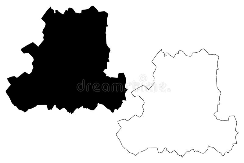 Csongrad County Hungary, Hungarian counties map vector illustration, scribble sketch Csongrád map.  royalty free illustration