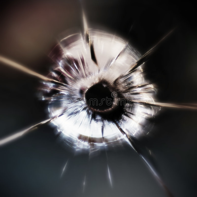 CSP Bullet Hole royalty free stock images