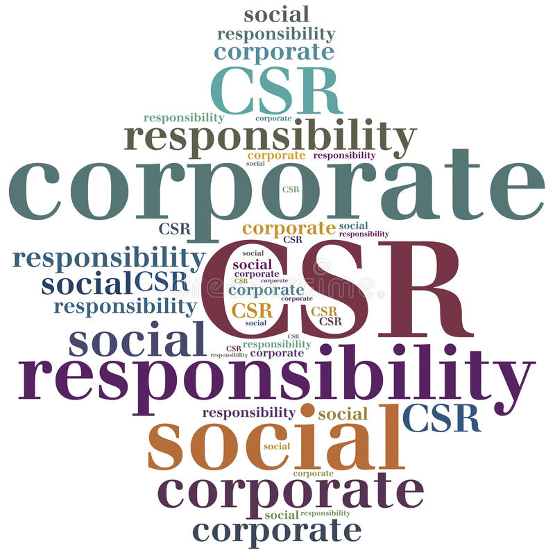 CSR Εταιρική κοινωνική ευθύνη ελεύθερη απεικόνιση δικαιώματος