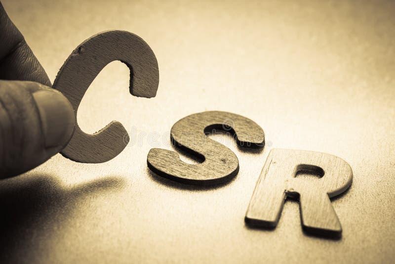 CSR fotografia stock libera da diritti