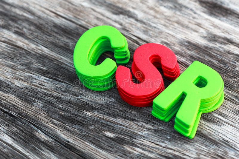 CSR fotografia stock