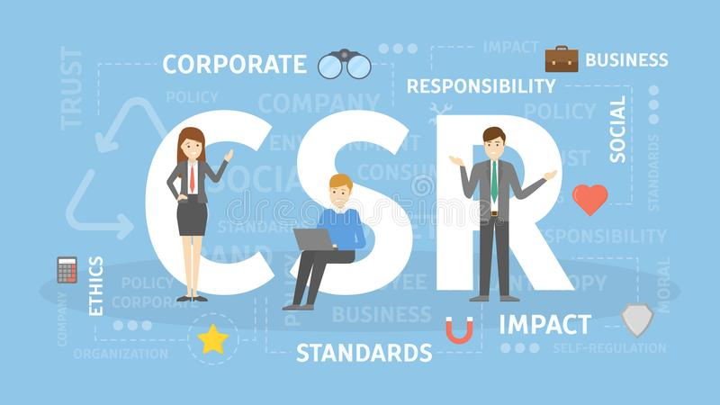CSR concept illustration. royalty free illustration