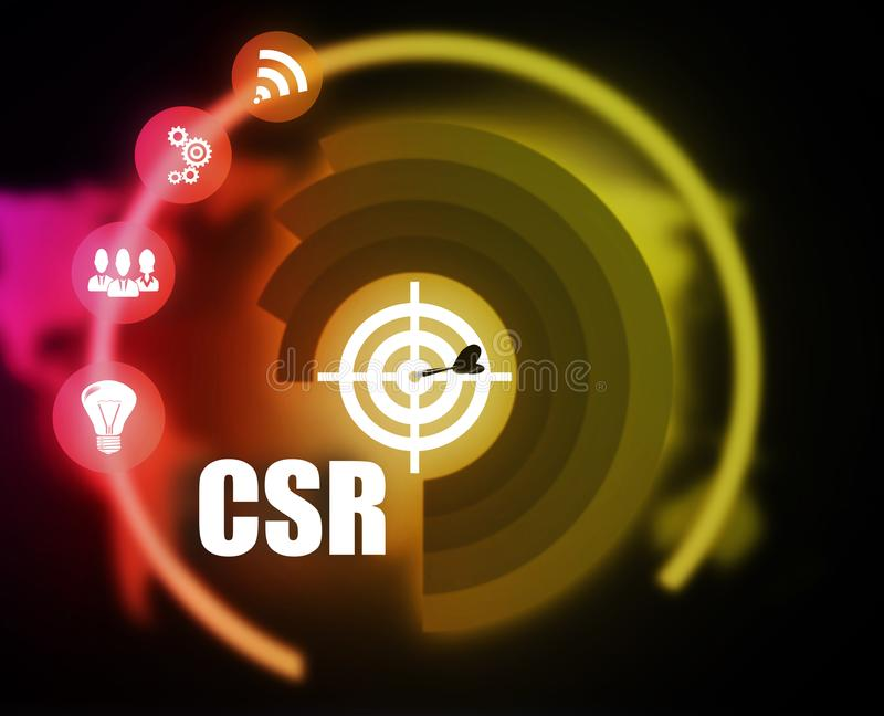 CSR concept plan graphic royalty free illustration