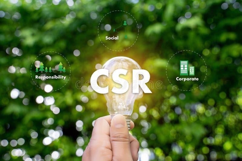 CSR da responsabilidade social empresarial e sustentabilidade Responsib fotografia de stock