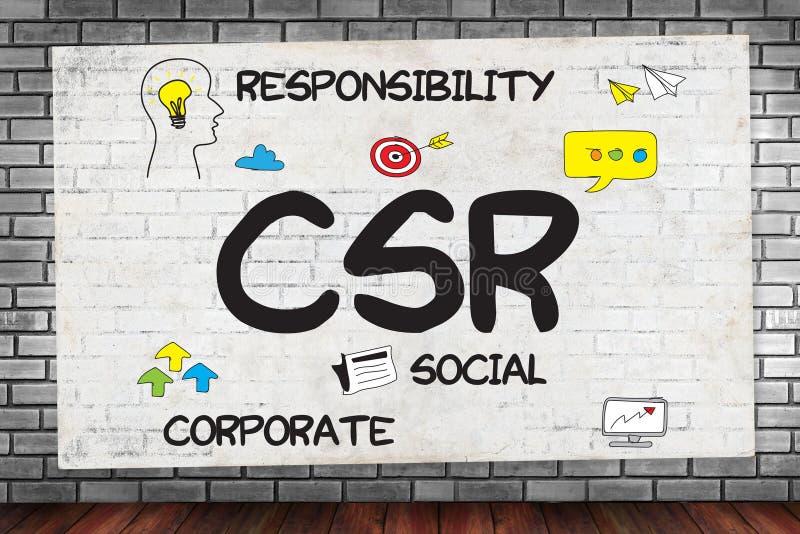 CSR di responsabilità sociale dell'impresa e sostenibilità Respon immagini stock libere da diritti