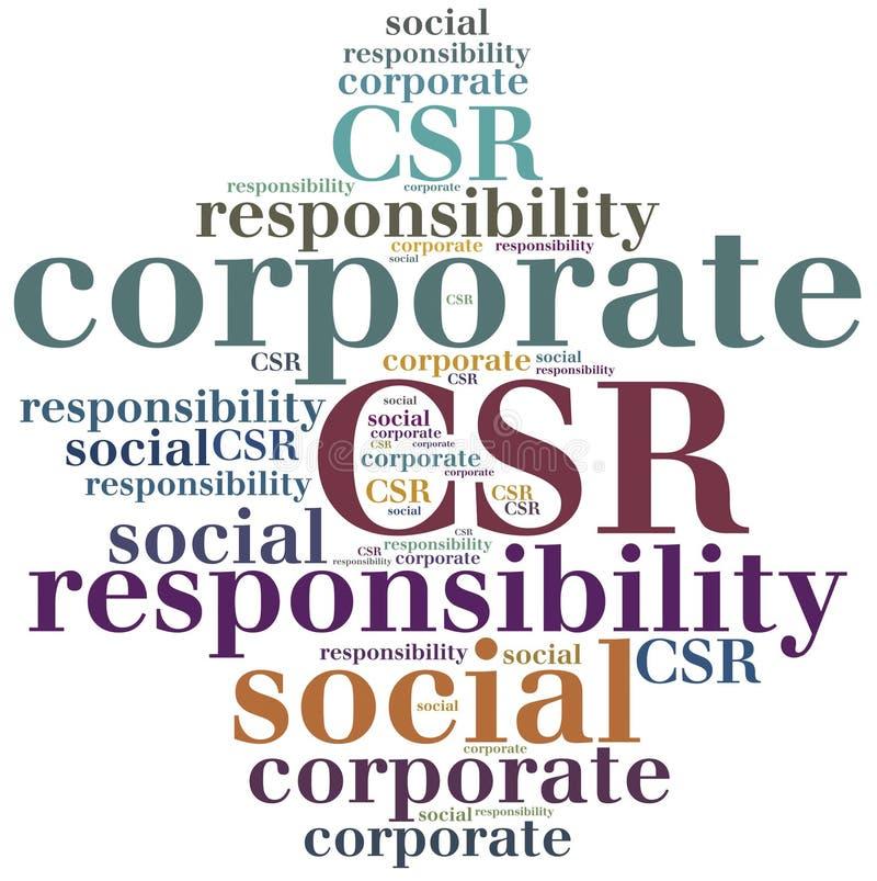 CSR Företags socialt ansvar royaltyfri illustrationer