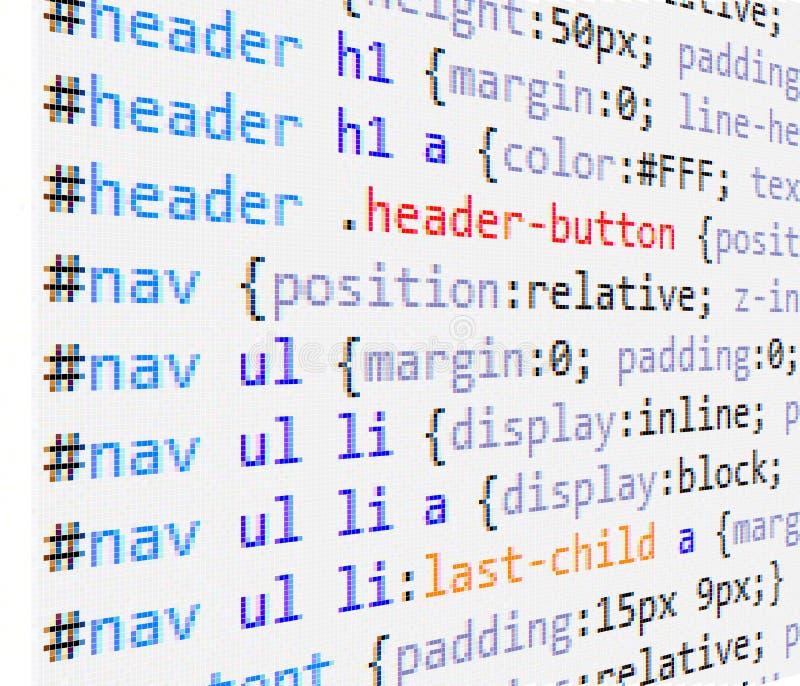 CSS和HTML编码 库存例证