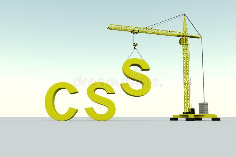 CSS大厦概念 皇族释放例证