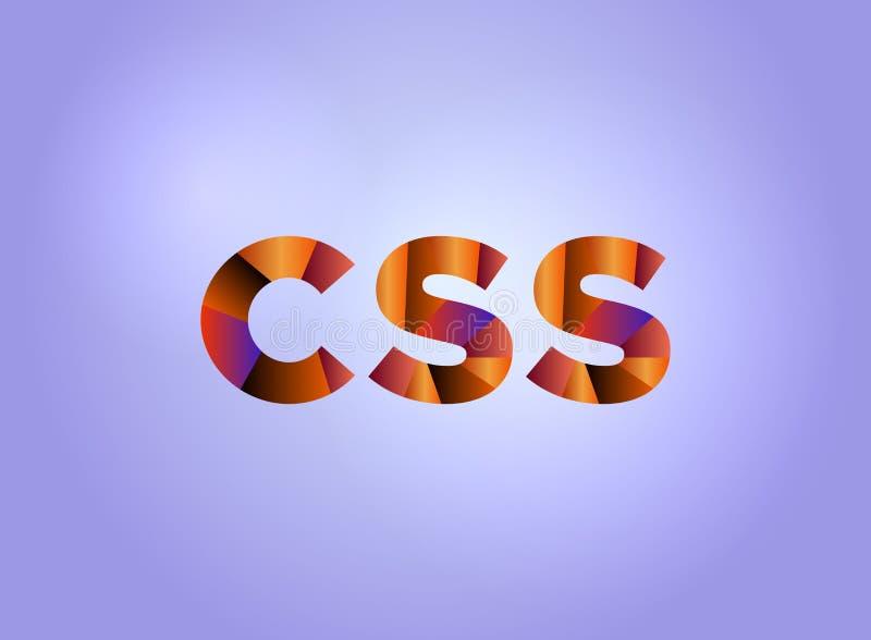 CSS概念五颜六色的词艺术 皇族释放例证