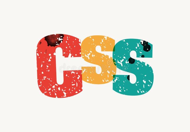 CSS概念被盖印的词艺术例证 库存例证