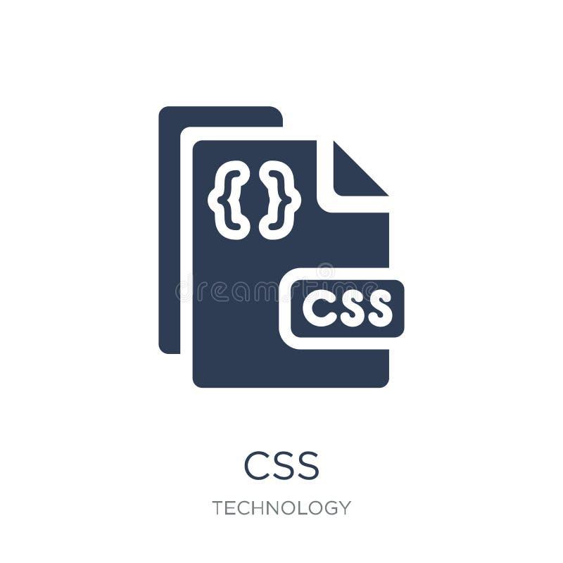 Css象 在白色背景的时髦平的传染媒介CSS象从T 向量例证