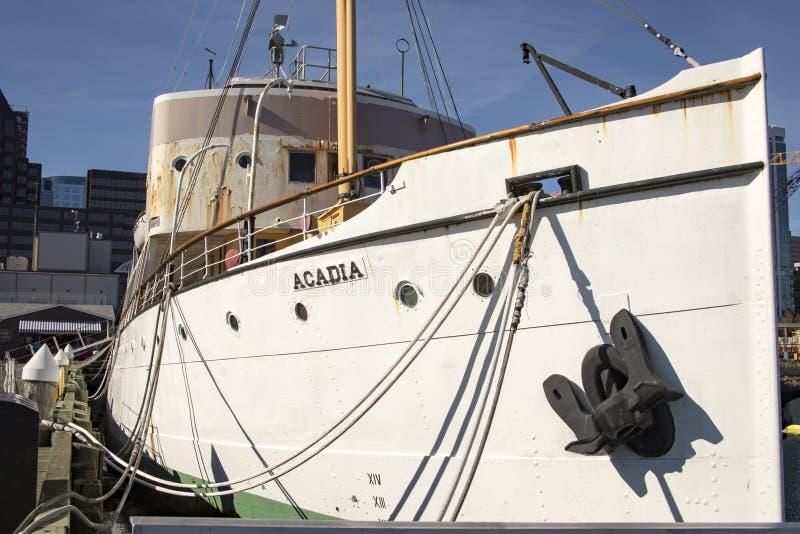 Css-Acadia auf Ufergegend von Halifax, Nova Scotia, Kanada stockfotografie