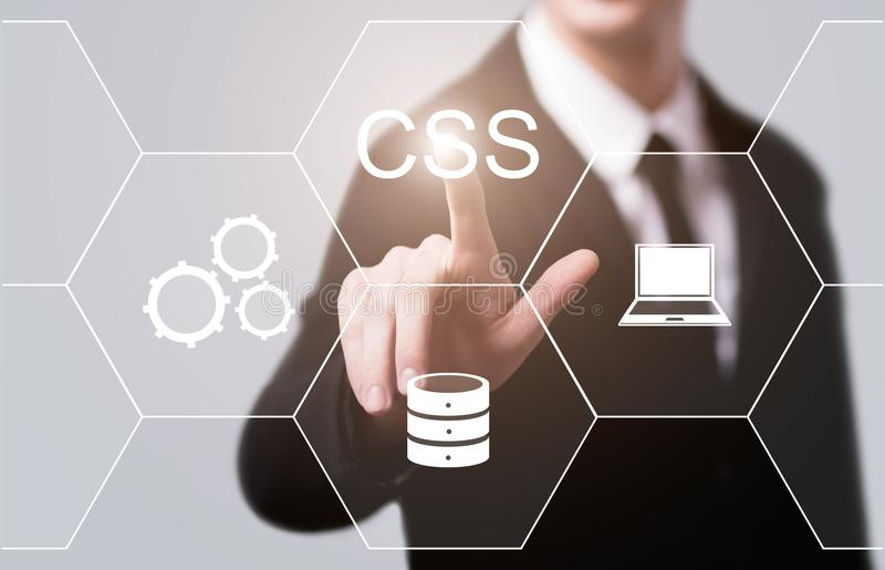 CSS Code Programming Web Development Internet Technology Concept.  stock photo