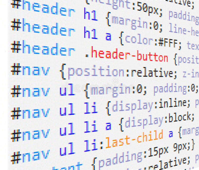 CSS and HTML code stock illustration