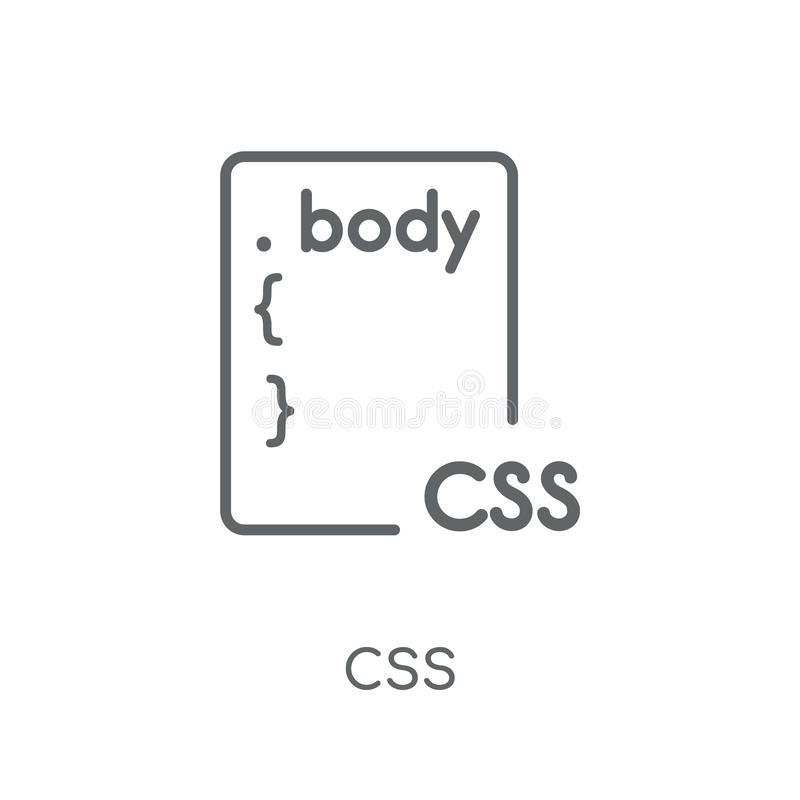 Css Linear Icon  Modern Outline Css Logo Concept On White