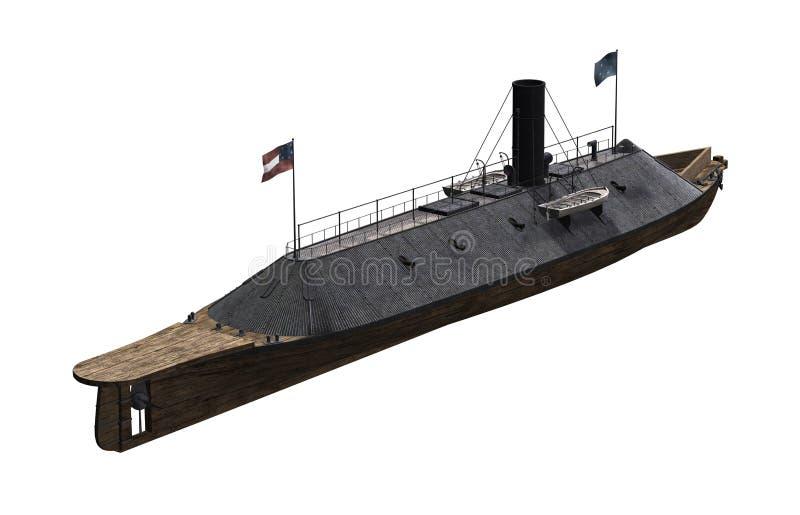 CSS Virginia - sträng inbördeskrigkrigsskepp vektor illustrationer