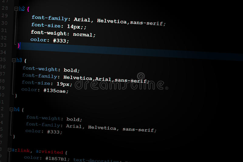 Css3 Code Web Design Code Royalty Free Stock Images