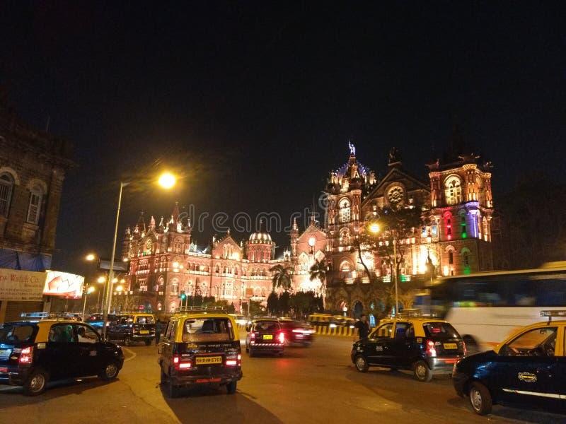 CST-贾特拉帕蒂・希瓦吉终点站,孟买 库存照片