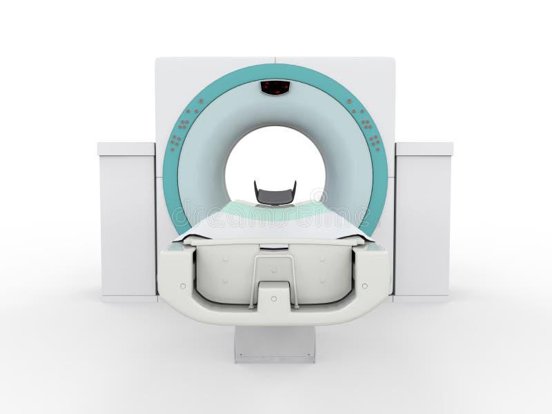 CT在白色背景隔绝的扫描器X线体层照相术 库存照片