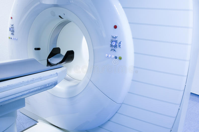 CT (Computed tomography) scanner in hospital. Laboratory stock image