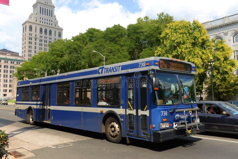 Ct-Durchfahrt Bus in Hartford, Connecticut, USA lizenzfreie stockbilder