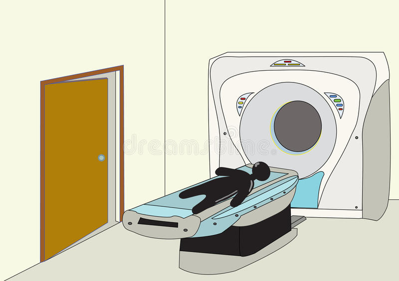 Download CT Scan stock vector. Image of medical, monitor, room - 20898846