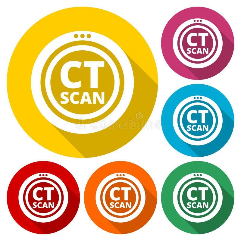 CT Scan sign stock illustration