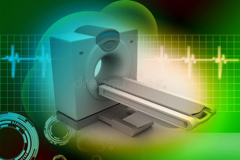 Ct-Scanner-Tomographie lizenzfreie abbildung