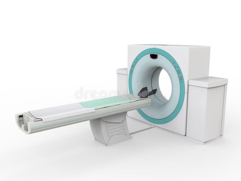 Ct-Scanner-Tomographie lokalisiert auf weißem Hintergrund lizenzfreies stockbild