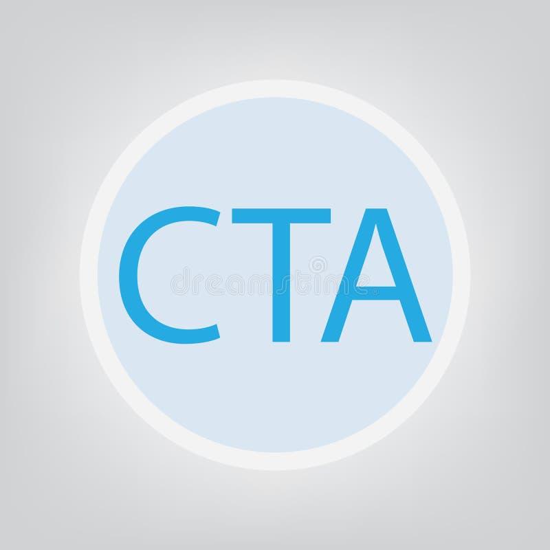 CTA-appell till handlingakronymen stock illustrationer