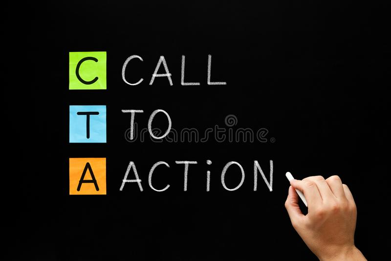 CTA - Call To Action Marketing Concept stock images