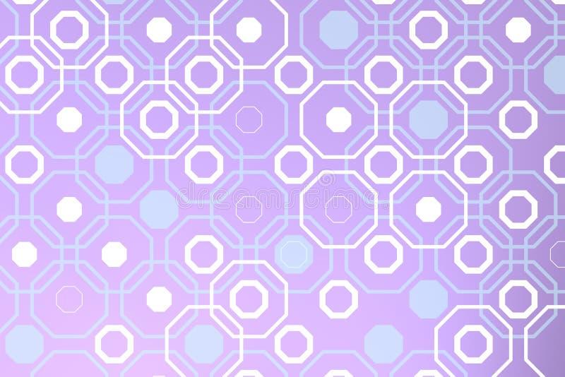 Ctagones blancos sobre contraluz violeta libre illustration