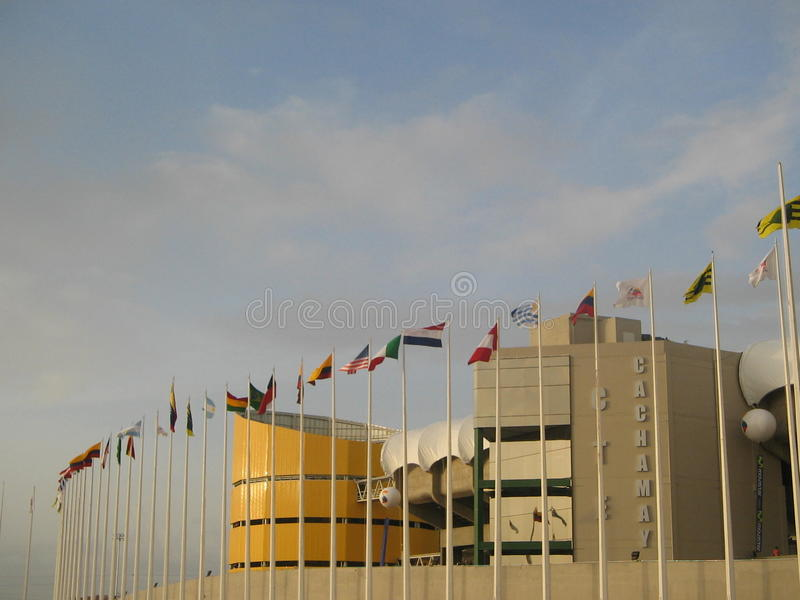 CTE Cachamay Estadium Venezuela foto de archivo