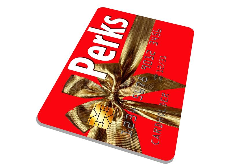 CThis是提供津贴和奖励的假日主题的信用卡 免版税库存照片