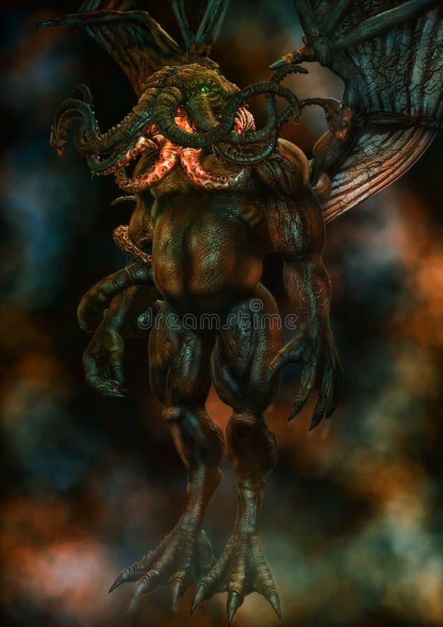 Cthulhu妖怪 皇族释放例证