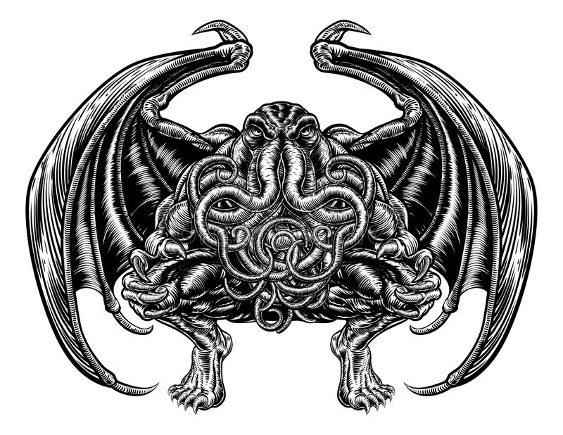 Cthulhu-Monster vektor abbildung